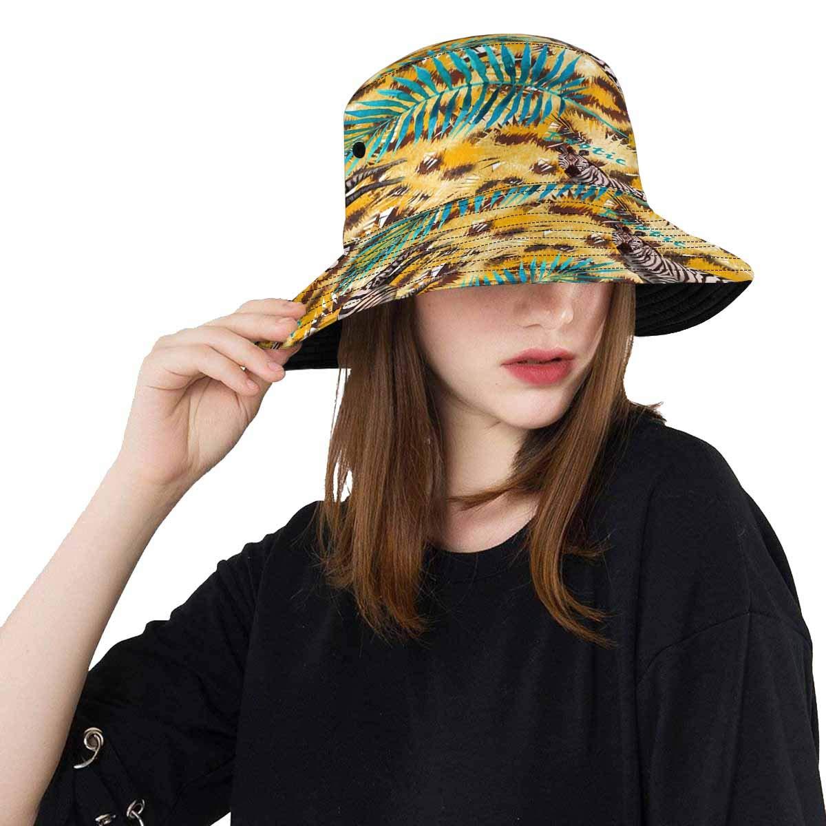 db8ece1fcc08 Amazon.com: INTERESTPRINT Leopard Skin Fishing Hat Travel Bucket Hat:  Clothing