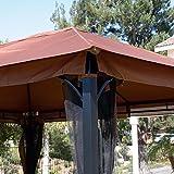 Generic O-8-O-1526-O num Ste Gazebo Mosquito Net ing Alu Patio Canopy to Net 10' x 12' azebo M Netting Aluminum Steel Patio C Regency HX-US5-16Mar28-171