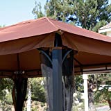 Generic O-8-O-1526-O num Ste Gazebo Mosquito Net ing Alu Patio Canopy to Net 10' x 12' azebo M Netting Aluminum Steel Patio C Regency HX-US5-16Mar28-171