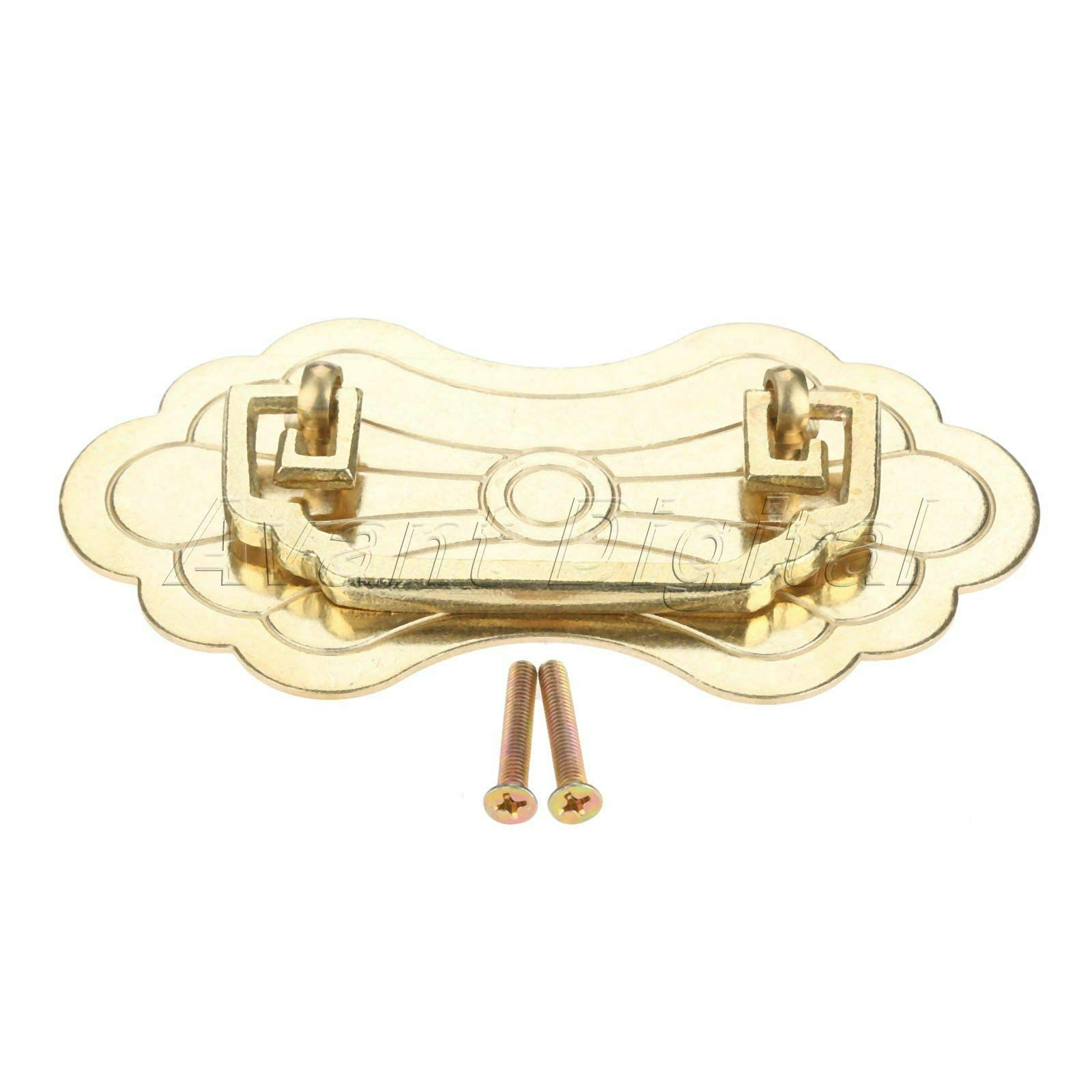 Mercury_Group, Antique Retro Vintage Pulls Knobs, Solid Wine Jewelry Box Pull Handle Cabinet Closet Knob Furniture Brass Hardware - (Color: Brass)