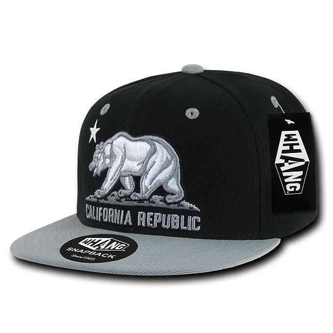 e30c8fcc53ad5 Dolphin Shirt Co California Republic Snapback Flat Bill Embroidered ...