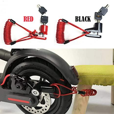 For Xiaomi Mijia M365 Anti Theft Electric Scooter Car Disc Brake Lock Safety Set