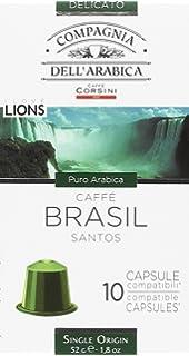 Compagnia Dellarabica Café Cápsulas de Brasil Santos - 60 Cápsulas , 6 estuches -