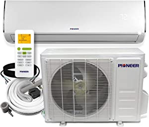 Pioneer Diamante Series 12,000 BTU 20 SEER 115V Ductless Mini-Split Air Conditioner Heat Pump Full Set with 16 Ft. Kit