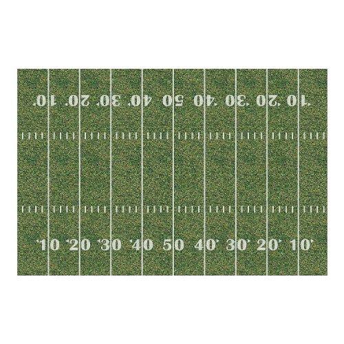 Fun Express Plastic Football Field Backdrop Banner, 9 x 6' ()