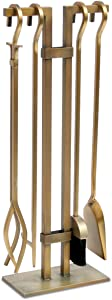 Pilgrim Home and Hearth, Burnished Brass 18086 Sinclair Fireplace Tool Set