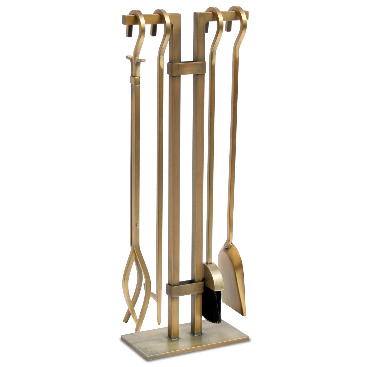 Pilgrim Home and Hearth 18086 Sinclair Fireplace Tool Set, Burnished Brass by Pilgrim Home and Hearth