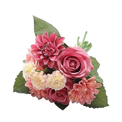 Amazon.com: Vosarea - Ramo de flores artificiales de ...