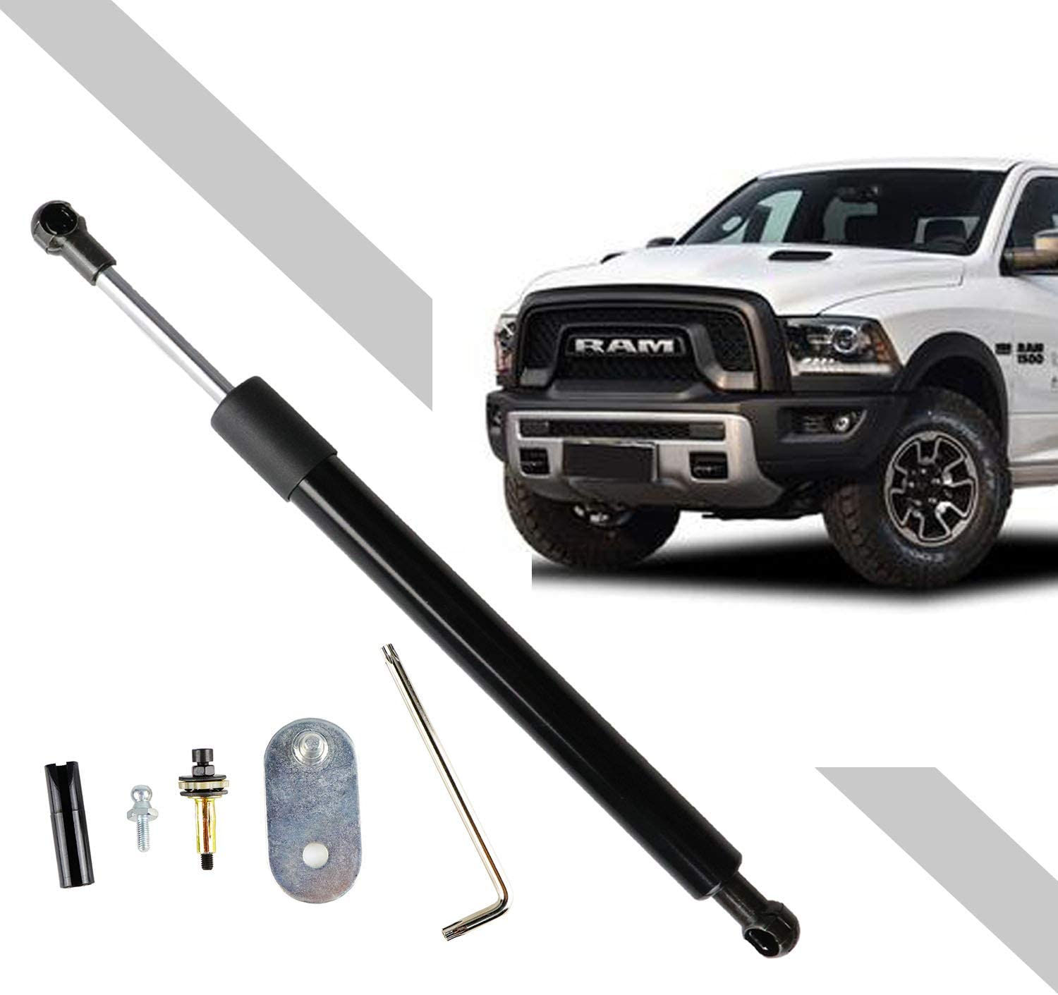 EDIONS Shock Absorber 2pcs Lift Support Tailgate Assist Direct Fit Hydraulic d Car Rear Replacement Durable Spring sy Install Carbon Steel Accessories Left Right for Ford Ranger T5
