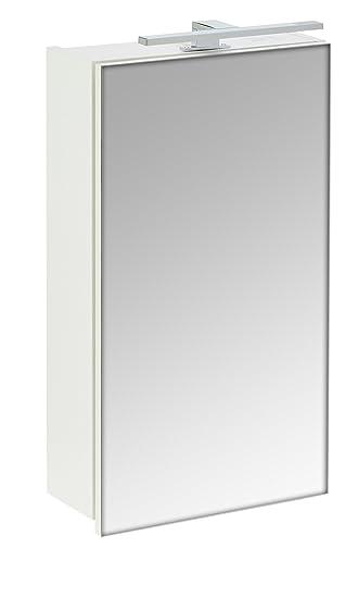 Galdem START40 Spiegelschrank, holz, 40 x 70 x 15 cm, weiß: Amazon ... | {Spiegelschrank holz weiß 50}