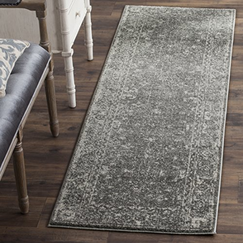 Safavieh Evoke Collection EVK270S Vintage Grey and Ivory Runner (2'2 x 7')