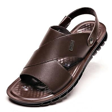 Herren Sandalen Bequeme Flach Atmungsaktiv Peep-Toe Offenen Entspannt Klassisch Einfach Sandaletten