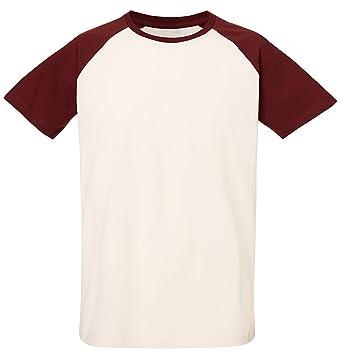 c77488084d68 Baseball Unisex T-Shirt aus 100% Bio-Baumwolle, Nackenband und Ärmel in  Kontrastfarbe, Bio Kurzarmshirt T-Shirt, Baseball Bio Shirt, Bio T-Shirt  Rundhals  ...