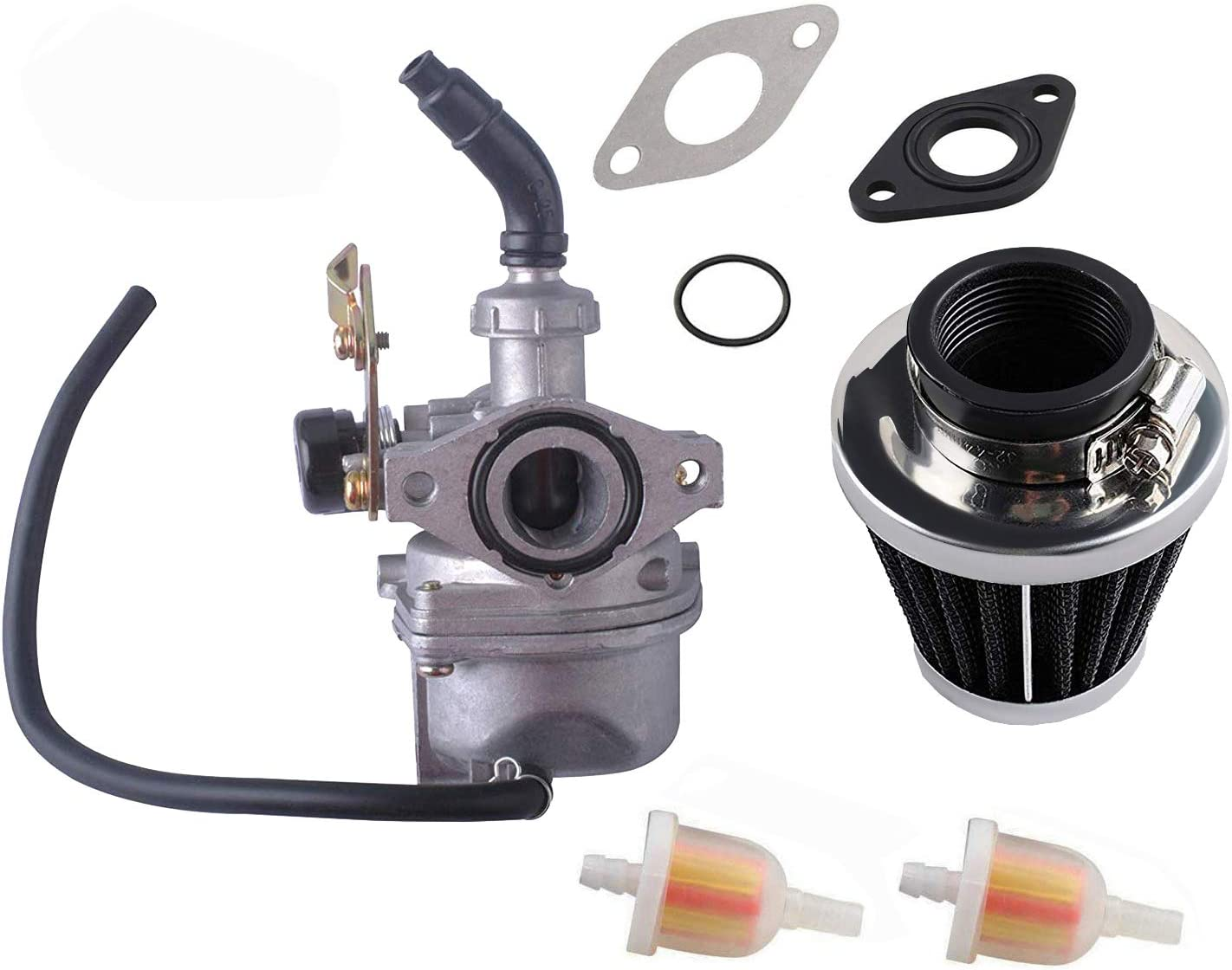 chinese 4 wheeler fuel filter amazon com podoy pz19 carburetor for compatible with taotao atv  amazon com podoy pz19 carburetor for