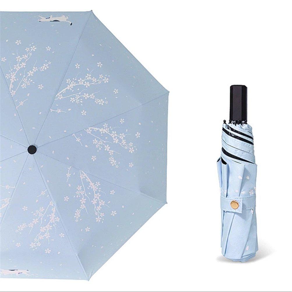 Ultra light Mini Compact Travel Umbrella Windproof Folding Golf Umbrella With 95% UV Protection (C)
