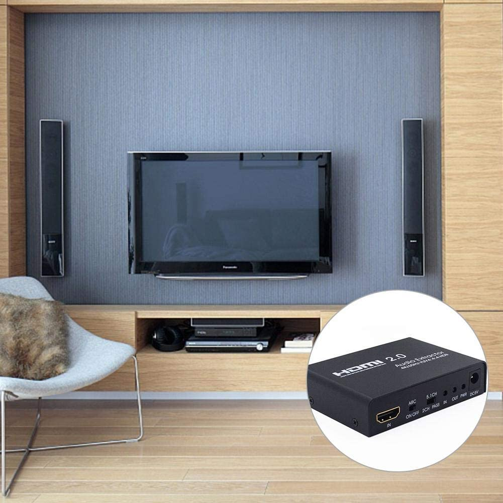 4 K Hdmi Switch, 2 Puertos HDMI Switcher con Fuente Soporte para Ultra HD 4 K x 2 K @ 60 Hz HDR 3D 1080p para PS3, PS4, Laptop, PC, Xbox One,