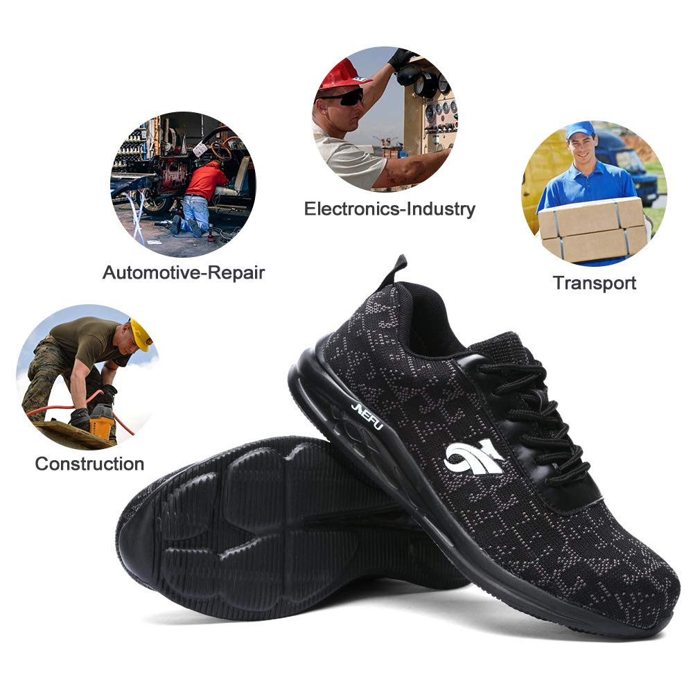 DYKHMILY Steel Toe Shoes Men and Women Safety Shoes for Men Anti-Piercing Work Shoes Outdoor Indestructible Shoes