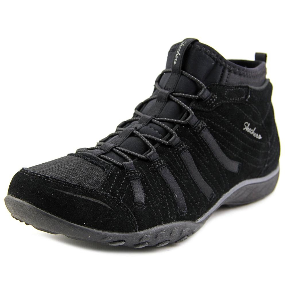 Skechers Relaxed Fit Breathe Easy Established Womens Mid High Top Sneakers Black 9.5