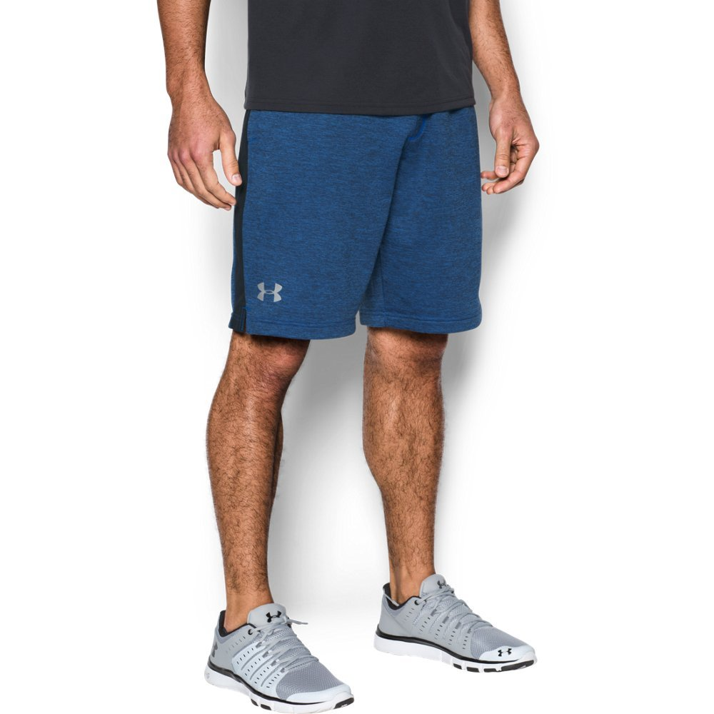 Under Armour Men's Tech Terry Shorts, Blue Marker (789)/Silver, Small