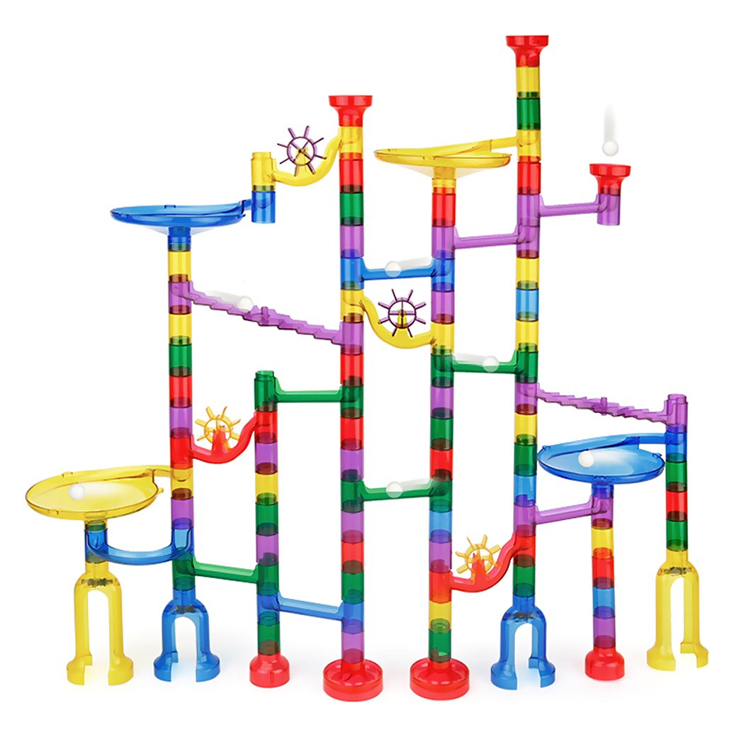 Marble Runs Set Kids Toys 80 Pcs Marble Race Track Game Marble Race Coaster Set Learning Toys Educational Construction Building Blocks Christmas Birthday Gifts STEM Toys Kids, 134 PCS
