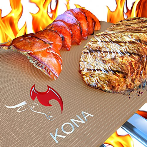 Kona Gold Grill   Bake Mats   New   Nonstick Heavy Duty Grill Accessories Bbq Mats  Set Of 2    7 Year Warranty