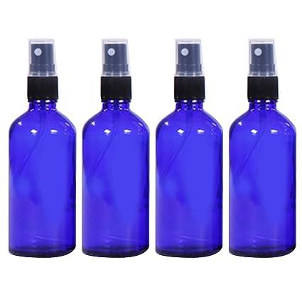 Vococal - 4 Piezas 100ml Vacía Recargable Vidrio Botella del Aerosol/Pulverizador de Perfumes/