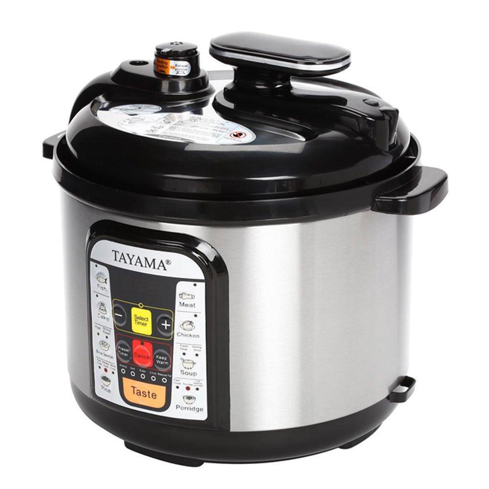Tayama B8 Electric Pressure Cooker, 5 L, Black