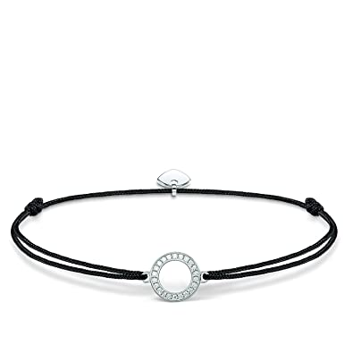 Thomas Sabo Women-Bracelet Little Secrets 925 Sterling silver black LS010-401-11-L20v FZmktX0m
