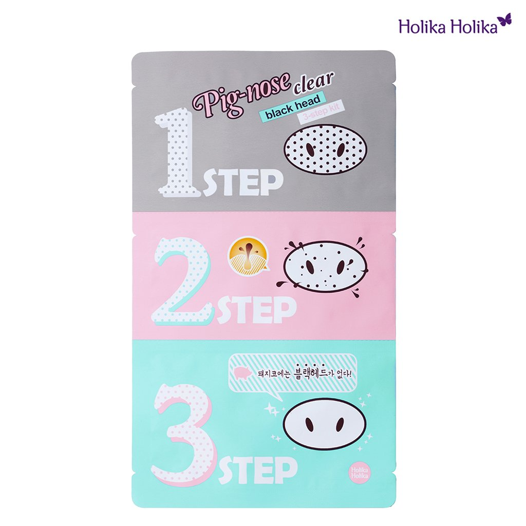 [Holika Holika] Pig Nose Clear Black Head 3-Step Kit x 5 Set [Misc.] HealthCenter