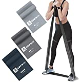 A AZURELIFE Higher Resistance Bands Set, Professional Non-Latex Elastic Exercise Bands, Long Stretch Bands for Physical Thera
