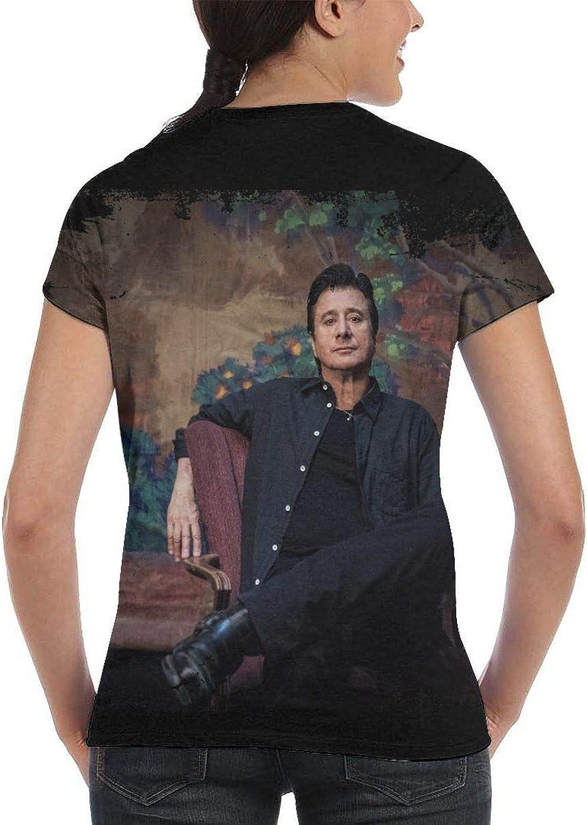 HAPPYHAPPYHAPPY Steve Perry Womens 3D All Print Short Sleeve T-Shirt