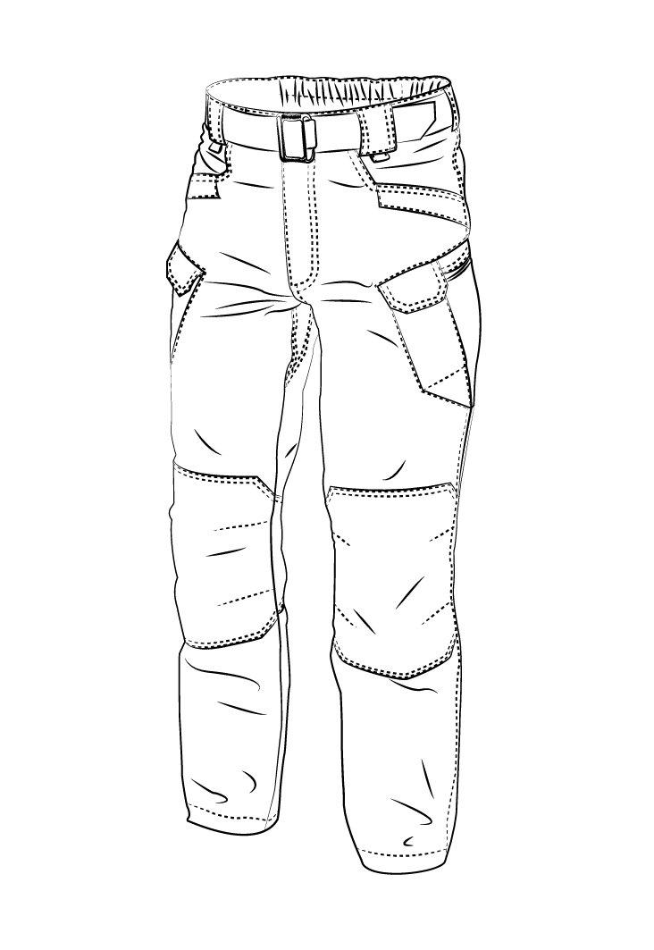 HELIKON-TEX Urban Line, UTP Urban Tactical Pants Ripstop Khaki, Military Ripstop Cargo Style, Men's Waist 38 Length 32 by HELIKON-TEX (Image #5)