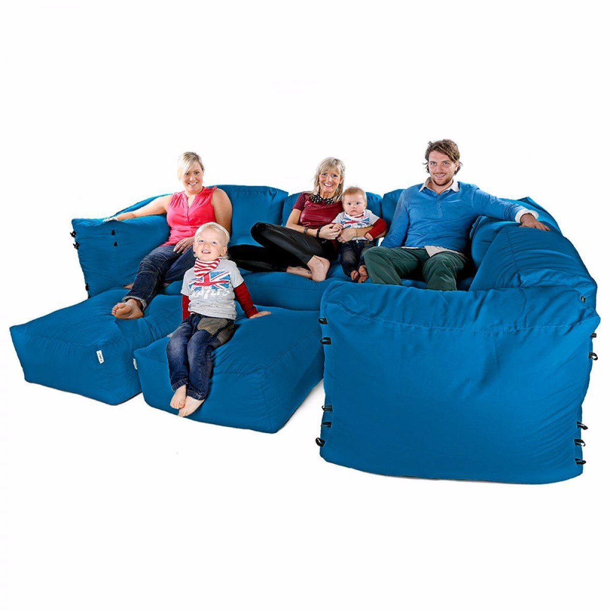 Modulare Ecksofa Bean Bags - 9Pc Luxusset -Teal