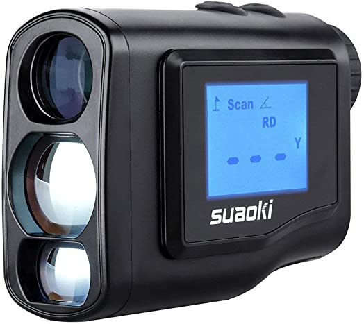 SUAOKI Digital Laser Rangefinder Scope Range 4.4 Yard- 656 yard 600M with Golf Distance Correction, Fog Mode and LCD Screen Display