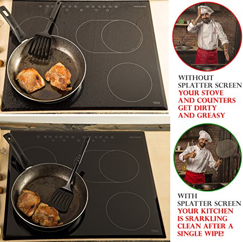 Grease Splatter Screen For Frying Pan 13 Stops 97 Of