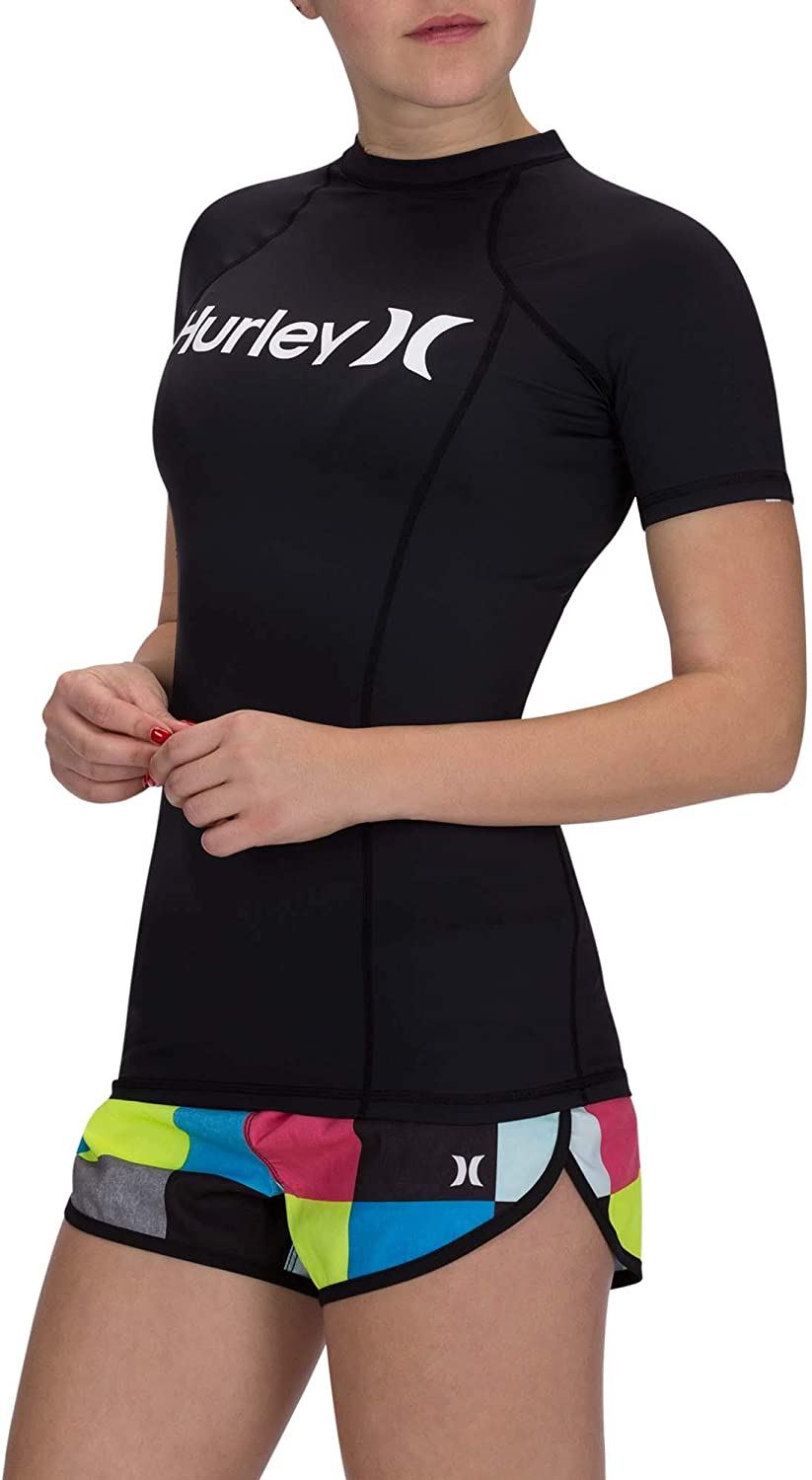 Hurley Womens Sun Shirt Rashguard SPF 50 Protection