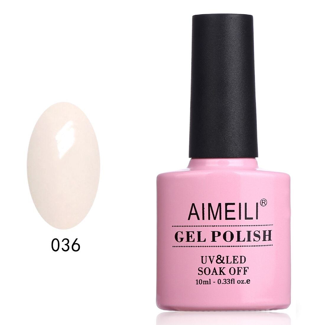 AIMEILI Soak Off UV LED Gel Nail Polish - Soft Pink (036) 10ml