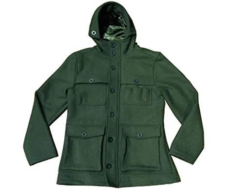 New Fly53 Frostbite Dark Olive Duffel Coat Jacket Smart Casual ...
