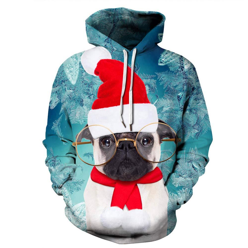URVIP Unisex Christmas Theme 3D Printed Pullover Fashion Hoodies Sweatshirts QYDM-381 XXL/XXXL by URVIP