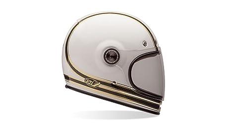 Wei/ß Solid Wei/ß L Bell Powersports Bullitt Motorradhelm