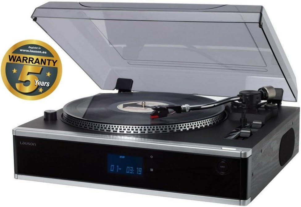 Lauson CL136NEGRO - Tocadiscos, grabación desde la radio, vinilo, CD