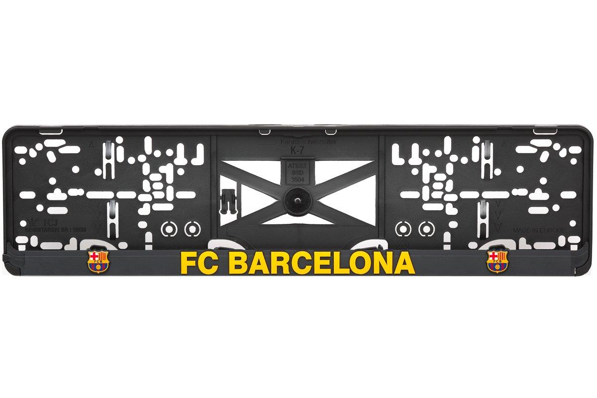 Westcar Barcelona 3D Effekt Lizenz Kennzeichenhalter Nummernschildhalter