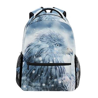 Ahomy Mochila Escolar para Adolescentes y niñas, Mochila de Viaje con águila de pájaro, Bolsa de Senderismo para Mujeres y Hombres: Equipaje