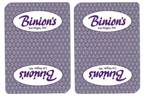 - 1 Deck Binion's Casino Playing Cards Used In Real Casino - Free Bounty Button Kit