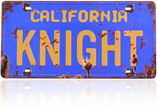 KARR Knight Rider Metal Stamped License Plate