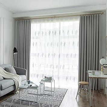 Amazon.de: HAOLY Einfache Wohnzimmer gardinen, Schlafzimmer ...