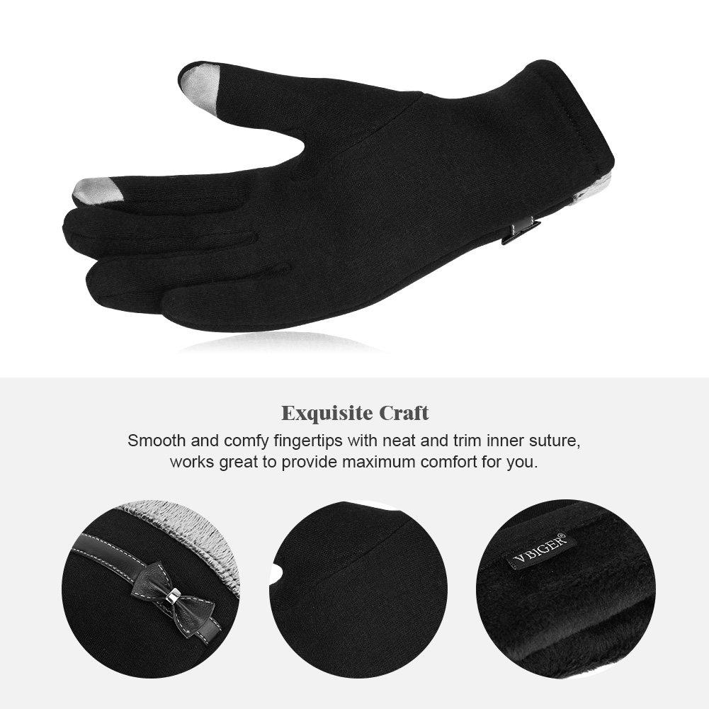 Vbiger Damen Handschuhe Winterhandschuhe Fahrradhandschuhe Damen Touchscreen Handschuhe Warme Winter Handschuhe mit Fleecefutter