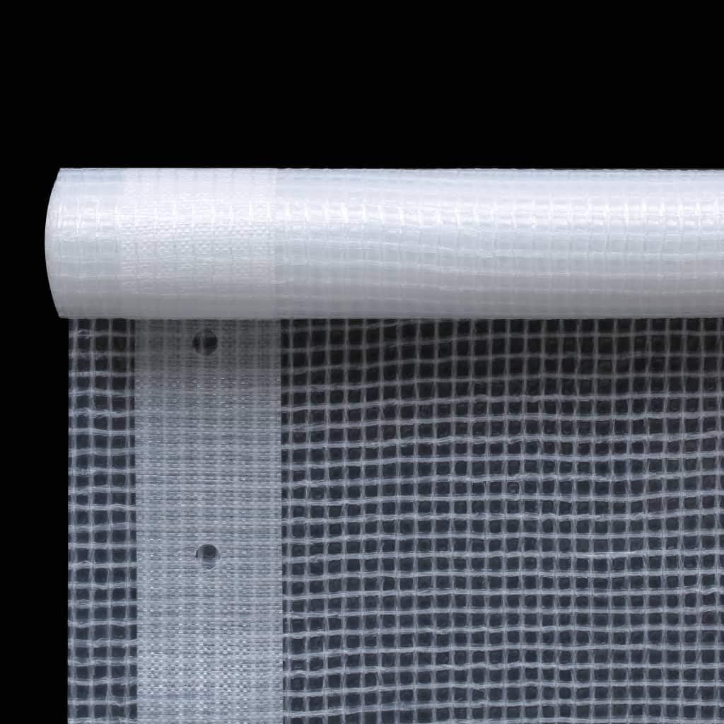 vidaXL Lona Impermeable 260 g//m/² 1,5x5 m Blanca Cubierta Pl/ástico Invernadero