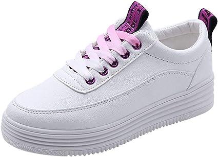 Zapatillas de Tenis para Mujer Zapatillas Deportivas de Mujer Zapatillas de Running Fitness Sneakers Gimnasia Ligero Zapatillas Blancas Mujer con Plataforma Deportivas: Amazon.es: Ropa y accesorios