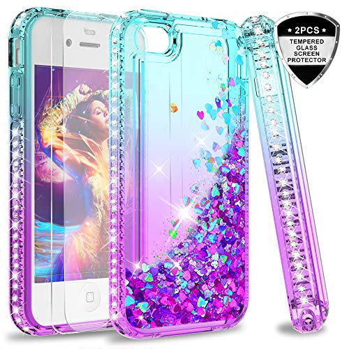 LeYi iPhone 4S Case with Tempered Glass Screen Protector [2 Pack] for Girls Women, Cute Shiny Glitte - http://coolthings.us